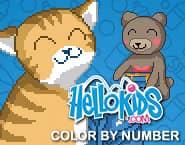 Hellokids Nummerkleurplaat